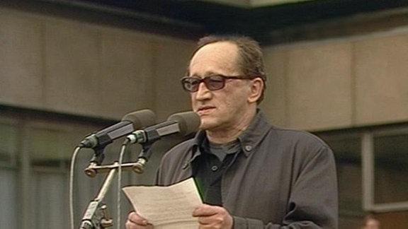 Heiner Müller am 4.11.1989 in Berlin