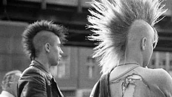 Punker in der 1980er-Jahren in der DDR.