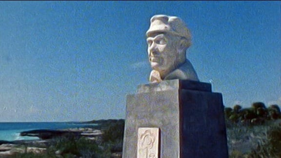 Ernst-Thälmann-Büste auf einer kubanischen Insel
