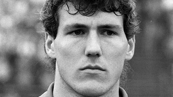 DDR-Fußballnationalspieler Burkhard Reich vom Berliner FC Dynamo in einer undatierten Archivaufnahme vom März 1987.