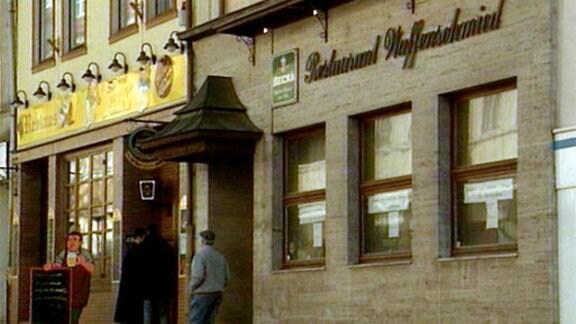 """Das Restaurant """"Waffenschmied"""" in Suhl"""