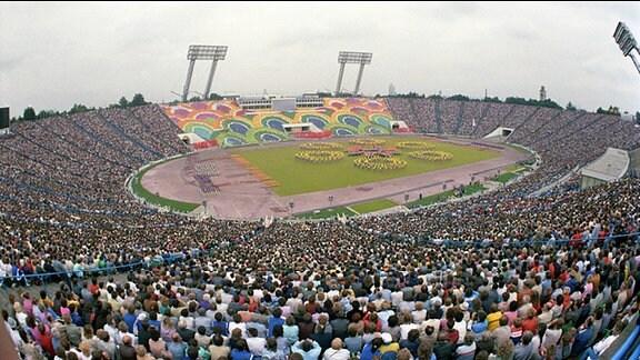 Vom 27. Juli bis 2. August 1987 findet in Leipzig das VIII. Turn- und Sportfest der DDR und die XI. Kinder- und Jugendspartakiade statt