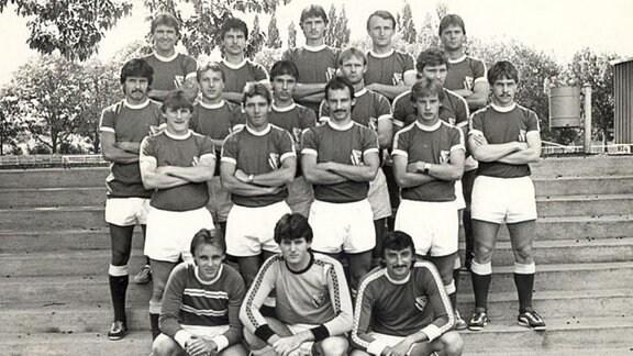 Mannschaftsfoto BSG Energie Cottbus 1976