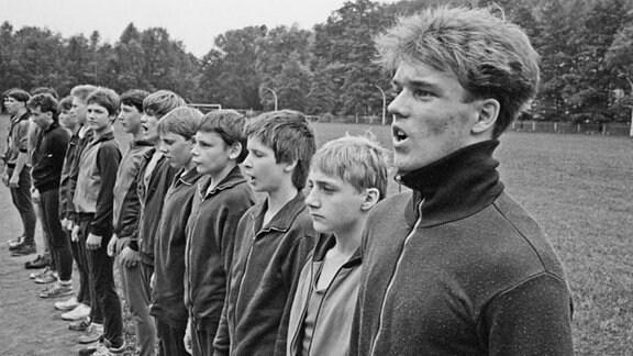Sport im Jugendwerkhof Wolfersdorf, 1987