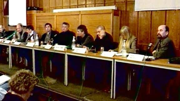 Treffen ehemaliger Bürgerrechtler 1998 - zehn Jahre nach der Demonstration vom 17. Januar 1988
