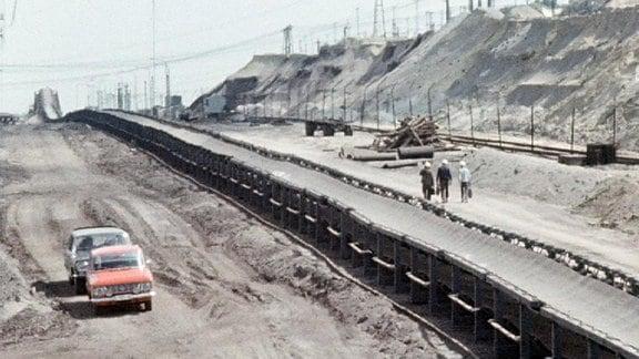 Förderband im Tagebau Goitzsche
