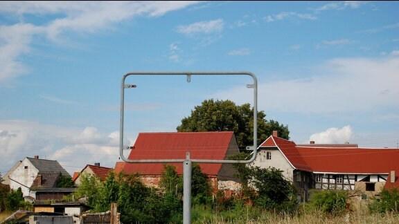 Blick auf ein Dorf.