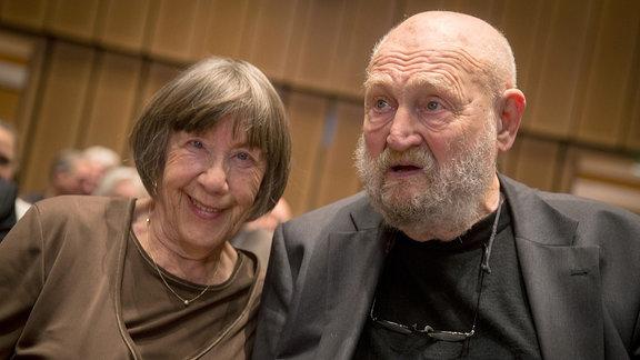 Schauspieler Rolf Hoppe und Ehefrau Friederike