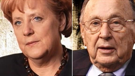 Angela Merkel, Hans-Dietrich Genscher, Alice Schwarzer
