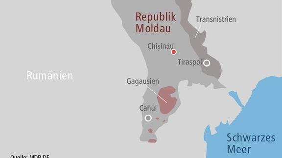 Karte Republik Moldau