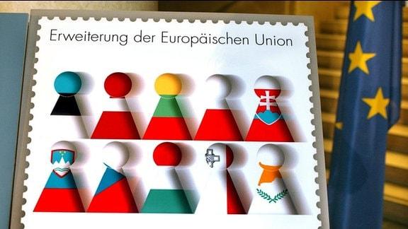Sonder-Briefmarke zur Erweiterung der Europäischen Union