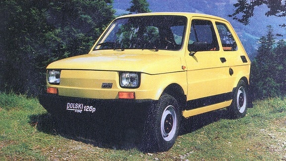 Gelber Polski Fiat 126 p
