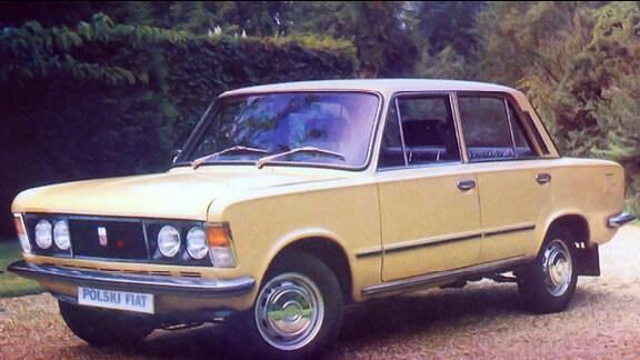 Eierschalenfarbener Polski Fiat