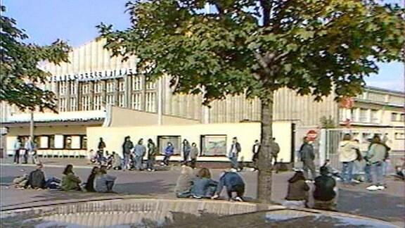 Die Werner-Seelenbinder-Halle in Ost-Berlin