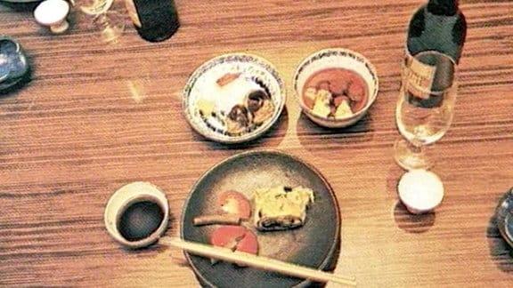 """ein japanisches Gedeck im """"Waffenschmied"""""""