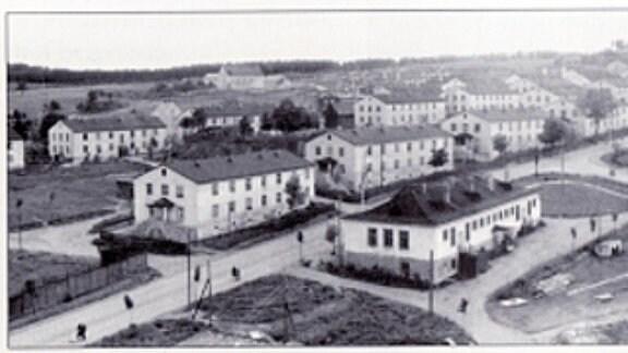 Neubausiedlung für die Wismut- Arbeiter in Johanngeorgenstadt.
