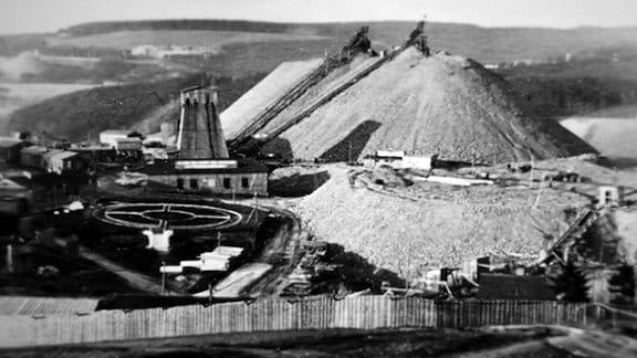Wismut Schacht aus dem Jahr 1947.
