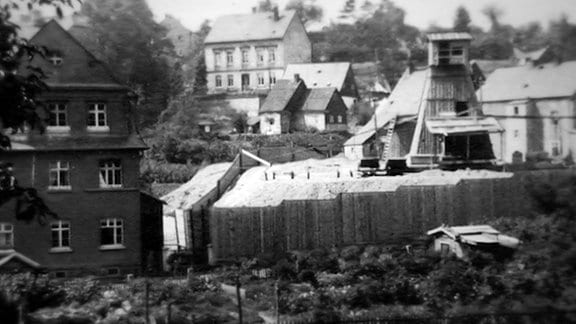 Überall im Erzgebirge gab es Schächte der Wismut AG.