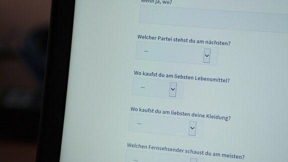 Internetseite mit einer Onlineumfrage