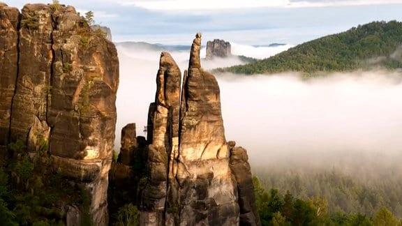 Felstürme im Elbsandsteingebirge