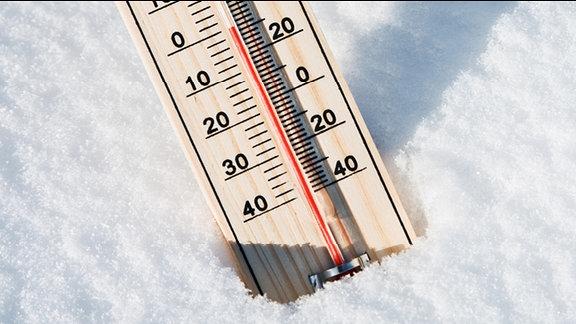 Thermometer im Schnee