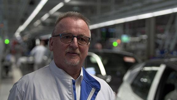 Michael Zetzsch, Leiter der Kundendienstwerkstatt bei VW in Zwickau