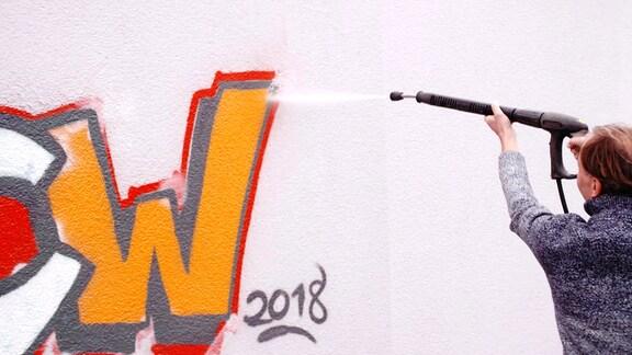 Anti-Graffiti-Fassaden-Anstrich
