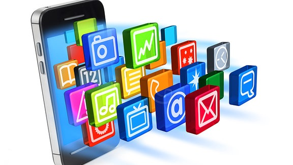 Symbilbild Smartphone mit Apps