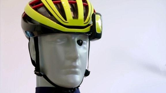 Minidisplay für den Fahrradhelm