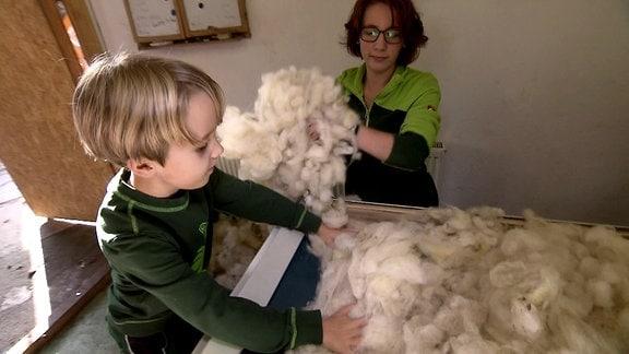 Wolle aus dem Erzgebirge