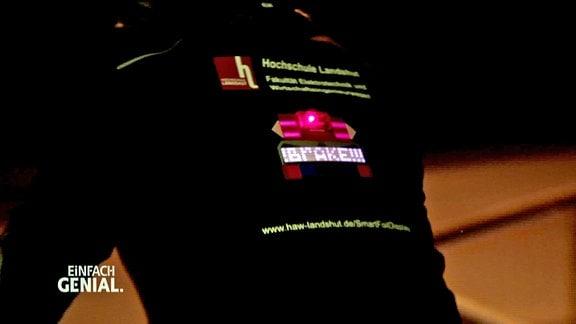 LED-Fahrrad-Jacke