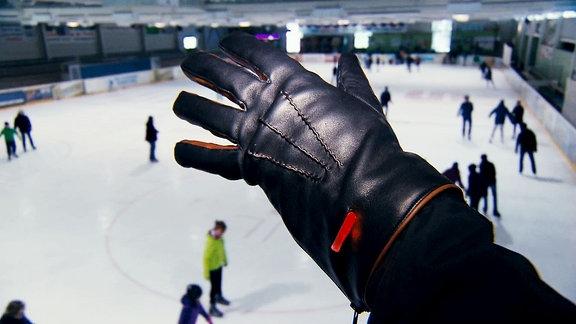 Lederhandschuh mit Fingerheizung