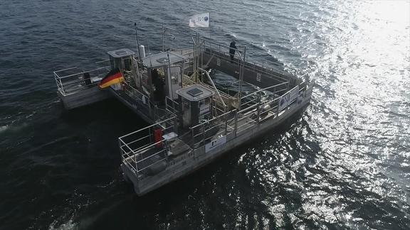 Müllsammelschiff
