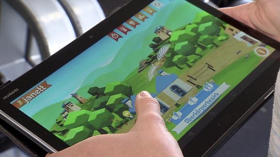Computerspiel auf einem Tablet