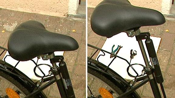 ein Sattellift an einem Fahrrad