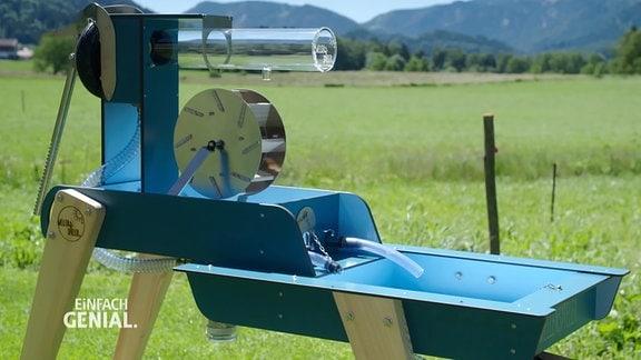 eine Wasserspiel-Pump-Anlage