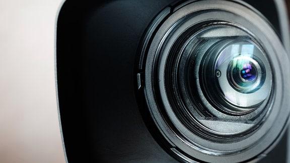 Ein Kameraobjektiv