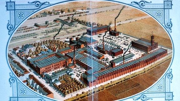 Abbildung des Gruson-Werks in Magdeburg