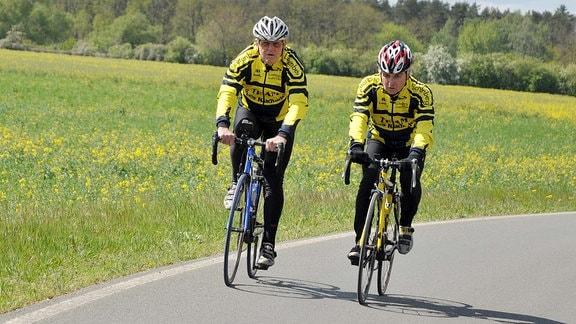 Täve Gustav Schur - noch immer on Tour auf dem Rennrad