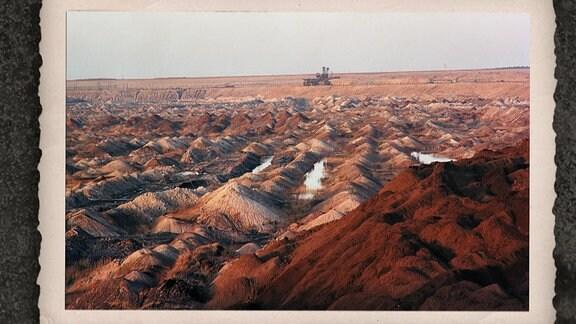 Ein Foto von einem Tagebau