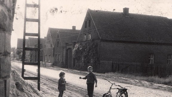 Elternhaus in Gremmin vor der Überbaggerung