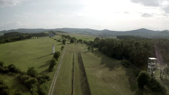 Grenzanlage von oben