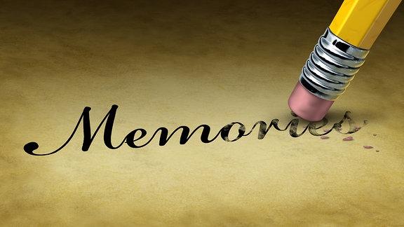 Das Wort Memories wird wegradiert.