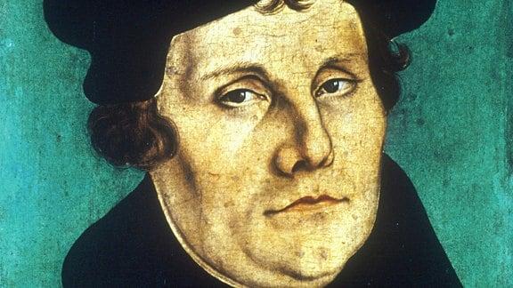 Der Reformator Martin Luther in einer Darstellung von Lukas Cranach dem Älteren.
