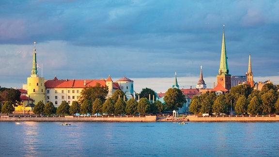 Blick auf die lettische Stadt Riga