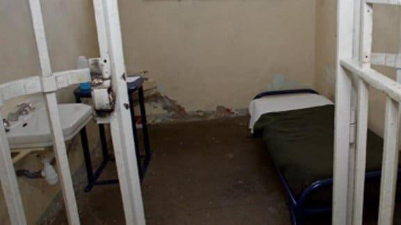 Gefängniszelle von Innen