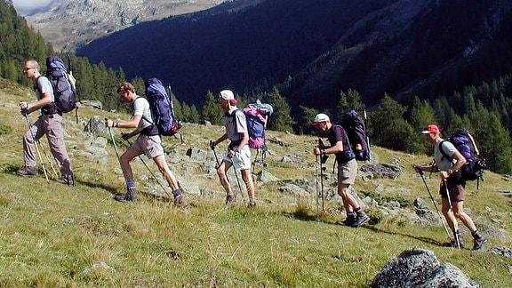 Wanderer im Gebirge