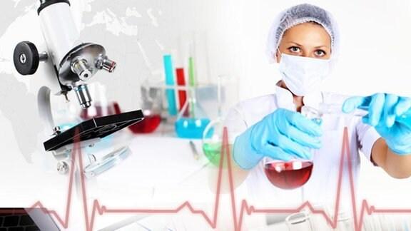 Collage medizinische Forschung