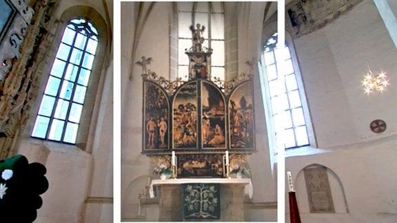 Bildcombo: Der Cranach - Altar in Kemberg