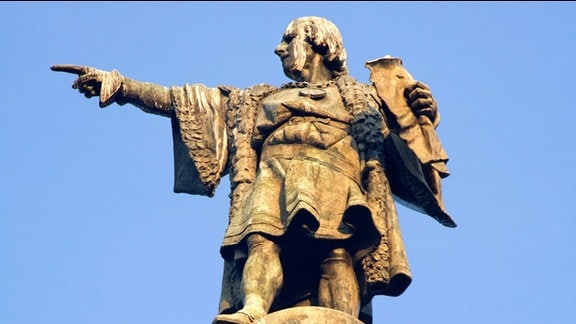Statue von Christoph Kolumbus in Barcelona